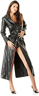 Womens Very Sexy Ladies Pure Butter Soft Leather Full Length Trench Coat