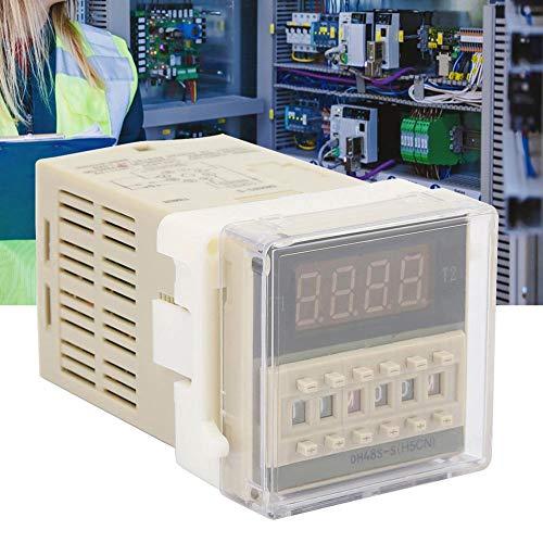 Digitaal tijdrelais, O111ROM DH48S-S-2Z LCD-scherm met lange levensduur Dubbel tijdrelais 8-pins 0.1S-99H (380VAC)