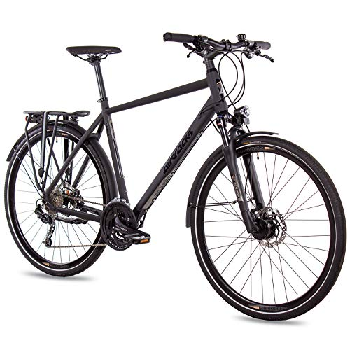 Trekking-Fahrrad in mattem Schwarz