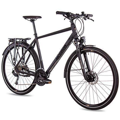 Airtracks Herren Trekking Fahrrad 28 Zoll Trekkingrad TR.2850 Schwarz Matt (56cm (Körpergröße 175-185cm))