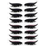 Pegatinas para delineador de ojos, 4 pares de pegatinas reutilizables para maquillaje de párpados y pestañas, contorno instantáneo, sin necesidad de pegamento, para mujeres ( Color : Black+Pink )