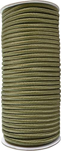 normani Allzweck Outdoor Seil 60 Meter in verschiedenen Stärken Farbe Oliv Größe 9mm