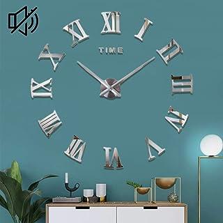 DIY Horloge Murale, Grand Pendule Murale Chiffres Romains Big Montre Stickers 3D Horloge Montre Murale Home Office Decorat...