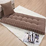 MM-CDZ Corduroy Thicken Swing Bench Cushion,Tufted Long Rectangle Bay Window Cushion,Settee Cushion Replacement Pad for Outdoor Garden Furniture