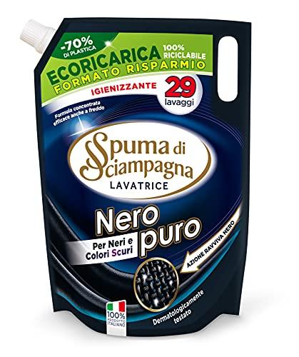Spuma di Sciampagna Ecoricarica Detersivo Lavatrice Nero Puro 29 lavaggi - 1305 ml