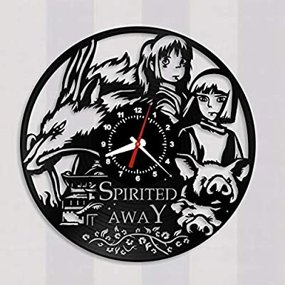 Amazon Com Vinyl Record Wall Clock Spirited Away Hayao Miyazaki Japanese Animated Coming Of Age Fantasy Film Studio Ghibli 12 Inches Decor Home Idea Handmade Gift For Her Him Home Kitchen