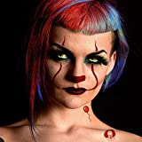 Scary Clown Temporary Tattoos  (2-Pack) Bonus'It' Tattoos   Skin Safe   MADE IN THE USA   Removable