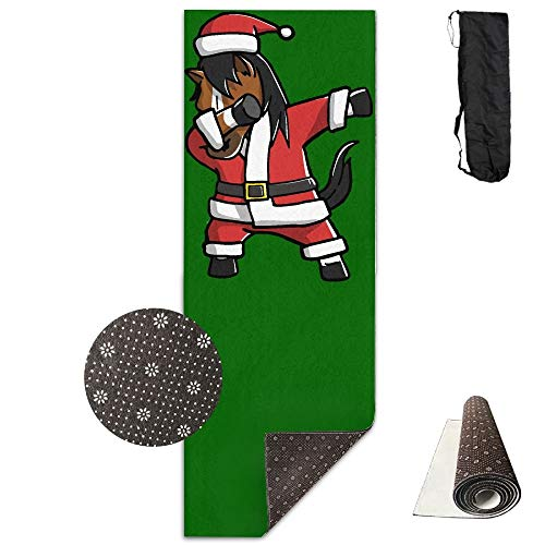 Feng Mei Yan Jiu Dabbing Paard Lelijke Kerst Yoga Mat Handdoek Voor Bikram/Hot Yoga, Yoga En Pilates, Paddle Board Yoga, Sport, Oefening, Fitness Handdoek