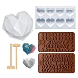 Diamond Heart-Shaped Silicone Mold, Digital Chocolate Candy Mold, Very Suitable For DIY Candy Chocolate Cake