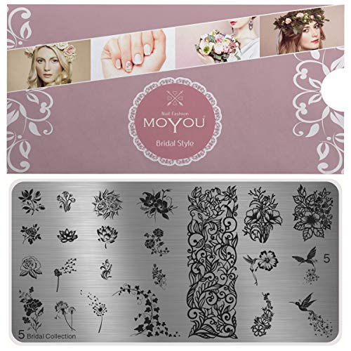 MoYou's XL Bridal plates collection 5,small and big Floral designs, birds, roses and flowers