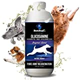Best Paw Nutrition Liquid Glucosamine Chondroitin for Dogs 32oz - for Hip Dysplasia & Joint Pain - Canine Health Food Supplement - Natural Pet Vitamins with MSM for Dog Mobility Support