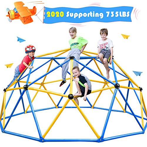 Zupapa 2020 Upgraded Dome Climber, Decagonal Geo Jungle Gym Supporting 735LBS with Much Easier Assembly, a Lot of Fun for Kids, Enjoying 2-Year Warranty