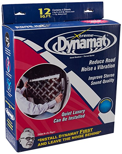 Dynamat 10435 12' x 36' x 0.067' Thick Self-Adhesive Sound Deadener with Xtreme Door Kit