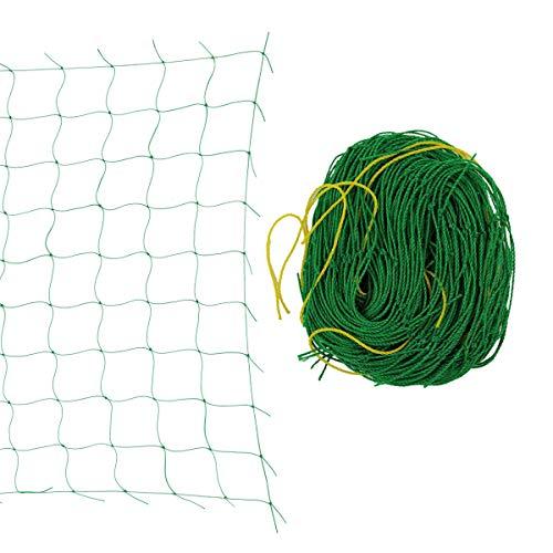 Yardwe Gartennetz Pflanze Spalier Vogel Obstbaum Netz Kletternetz 2,7 x 1,8 m (grün)