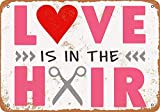 Carlena Love is in The Hair, Stylistes, Metallschild,