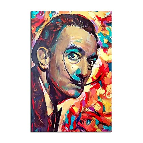 Salvador Dalí - Póster de lienzo y pared para decoración de dormitorio familiar
