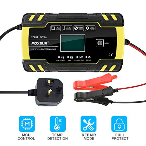 E-More Car Battery Charger, 12V 24V Battery Charger & Maintainer Delivers,...