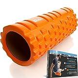 Fit Nation foam roller per massaggio muscolare con libretto d'esercizi, rullo ultra-leggero per alleviare in profondità il dolore. Ideale per tutti gli atleti, dai corridori ai ciclisti, così come i calciatori