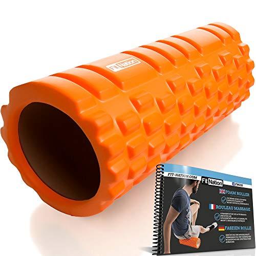 Fit Nation foam roller per massaggio muscolare con libretto d'esercizi, rullo ultra-leggero per...