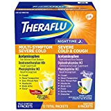 Theraflu Multi-Symptom Severe Cold and Theraflu Nighttime Severe Cold and Cough Hot Liquid Powder...