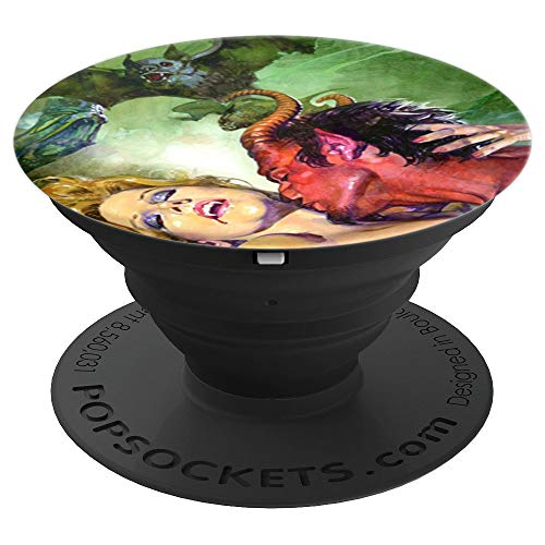 Flying Bat Red Devil Satan Vampire Girl Sexy Blonde Pinup PopSockets Grip and Stand for Phones and Tablets