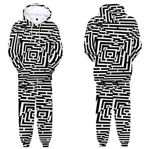 JCDZSW Conjunto De Chándal Realista De Impresión 3D De Los Hombres Conjunto De Sudadera con Capucha Sudadera De Jogging Fondos Casual Deportes Swearstuit C-XXS