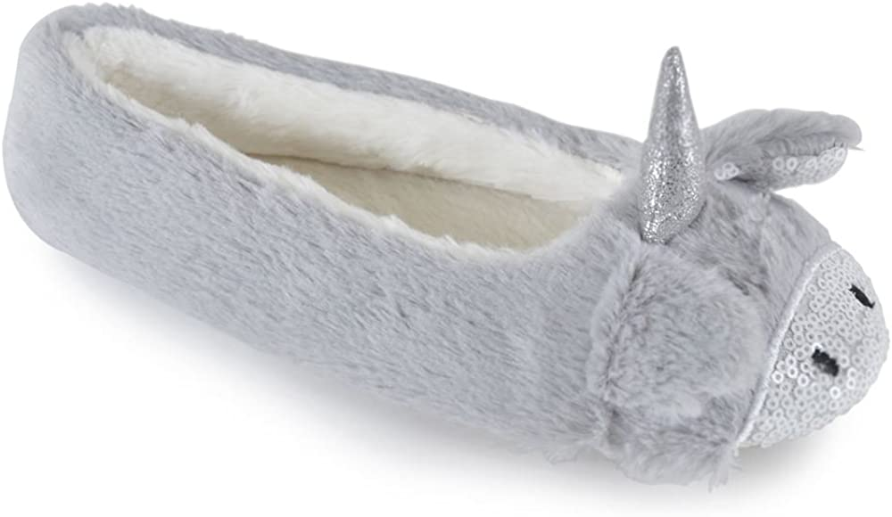 Details about  /Soft Fleece baby Ballerina with Grip Knitted Slippers Unlined Sherpa Lined