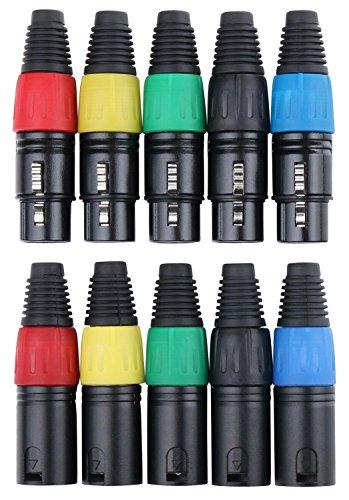 Pronomic set de clavijas XLR-hembra/macho 2x 5 piezas de