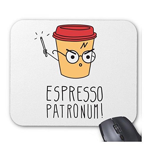 Harry Potter inspirado Espresso Patronum personalizadas personalizado ordenador decoración Rectángulo alfombrilla de ratón