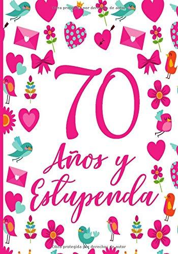 70 Años y Estupenda: Regalo de Cumpleaños 70 Años Para Mujer Planificador Agenda Tareas Diarias