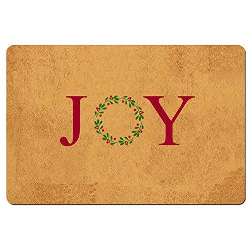 Felpudo divertido para interiores y exteriores, felpudo de alegría con coronas navideñas, divertido felpudo de bienvenida,...