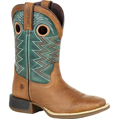 Durango Lil' Rebel Pro Big Kid's Teal Western Boot Size 4(M)