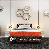 SleepX Dual Comfort Mattress- Medium Soft & Hard (Orange,...