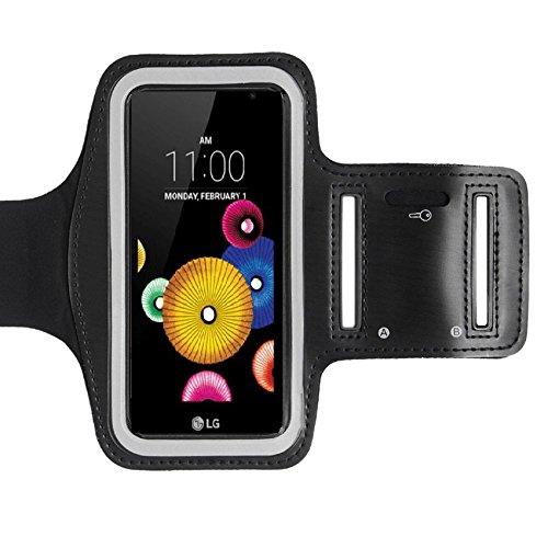 CoverKingz Sportarmband für LG K4 - Armtasche mit Schlüsselfach LG K4 - Sport Laufarmband Handy Armband Schwarz