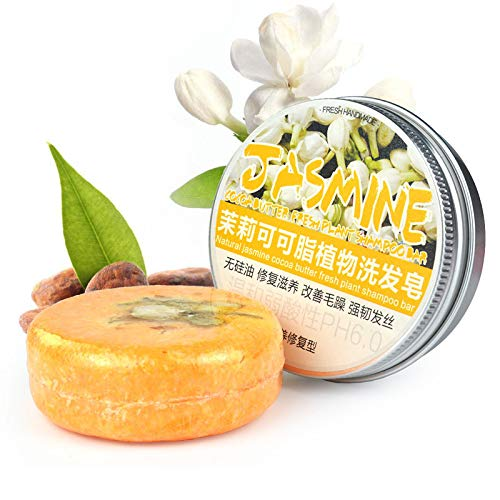 TAORANG Barra de jabón orgánica, natural, tradicional, hecha a mano, para el cabello, para limpiar la caspa, hidratante para el cabello seco y dañado, jazmín