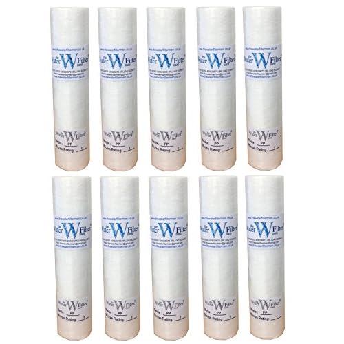 PP Osmose inverse Lot de 10 cartouches filtres à sédiments 1 micron 25 cm