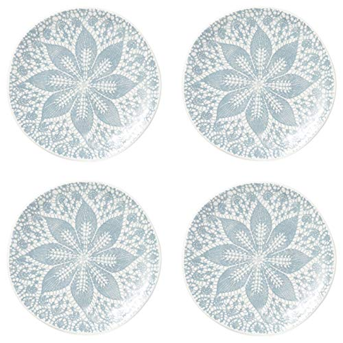 Viva Lace Cocktail Plates - Set of 4 - Gray