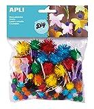 APLI Kids- Bolsa pompom brillante, Color (13062)