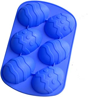 6 Even Easter Egg Shaped Silicone Bakeware