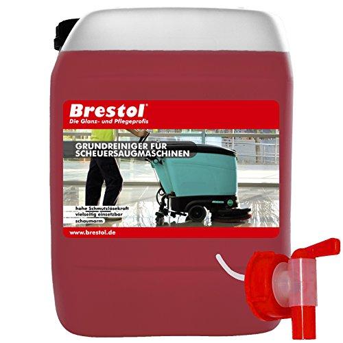 Basisreiniger voor schuurzuigmachines 10 liter concentraat incl. aftapkraan 51 mm - biologisch afbreekbare basisreiniger met sterke vuiloplossende kracht
