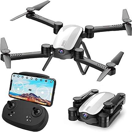 SIMREX X900 Drone RC Quadricottero Altitudine Tenere Senza Testa RTF 3D 360 gradi FPV Video WiFi 1080P Videocamera HD 6 assi 4CH 2.4Ghz Altezza Tenere facile Vola costante per l'apprendimento Blanco