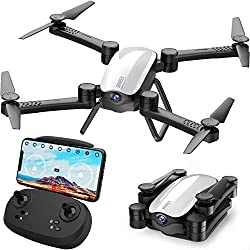 Phone direct control with transmission OR transmitter contorl with Smart phone. Apple IOS / Android phones compatible. Altitude Hold. You can release the throttle stick and the drone will keep the current height. One key take off and landing, super e...