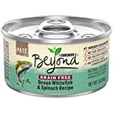 Purina Beyond Grain Free, Natural Pate Wet Cat Food, Grain Free Ocean Whitefish & Spinach Recipe - (12) 3 oz. Cans