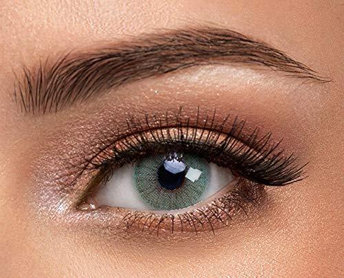 1 Paar grüne Kontaktlinsen von Solotica - Hochwertige Augenfarben ändernde Kontaktlinsen - Tragedauer bis zu 1 Jahr - Der natürlich aussehende Weg der Augenfarbenänderung - Hidrocor Rio Copacabana