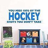 Pegatina De Hockey Odds, Pegatina Artística, Vinilo Extraíble, Mural, Decoración Interior Para El Hogar, Dormitorio Para Niños, Decoración De Cabecera De Cama Para Niños, 110X42Cm