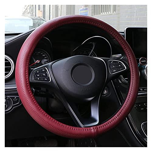 SHUNFENG Big Mother Ajuste para Cuero Genuino Cubierta DE Rueda DE Viaje LÍNEAS onduladas Diseño Diseño Universal Silica Gel Liner Wheel Rueda Steering Snake Pattern (Color Name : Dark Red)