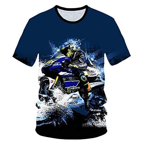 Camisetas Camiseta Manga Corta para Hombre Cuello Redondo Descenso Locomotora Camisetas con Estampado 3D Tops con Refranes Camisas para Hombres Tops-UNA_XXL