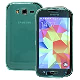 Annraft - Carcasa para Samsung Galaxy Grand Plus / Neo I9060, silicona gel con tapa y tarjetero para Samsung Galaxy Grand Plus / Neo I9060, color verde