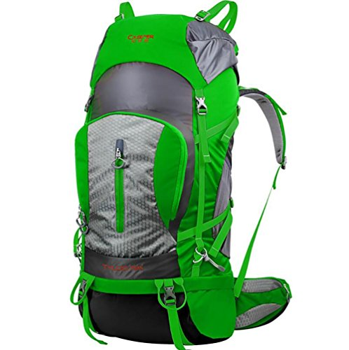 80L Professional Outdoor Escalade épaules Sac à dos de randonnée Hommes imperméable et Femmes Voyage Camping Alpinisme Sac , green