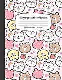 Composition Notebook: Cookie Bears Mini Wide Ruled Notebook for Kids and Students Back to School | Gift for Bear Lovers and Owner, Blank Lined Journal for Write & Note